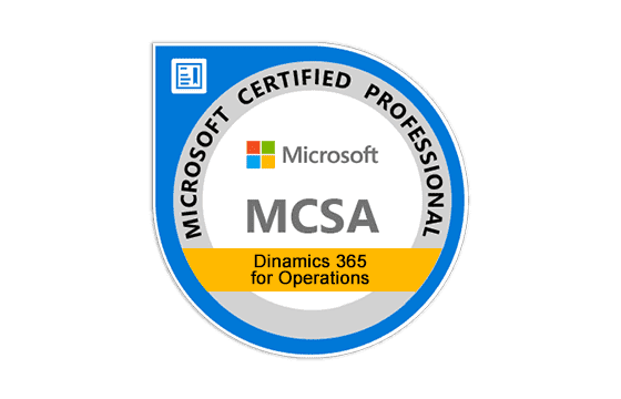 MCSA: Dynamics 365 for Operations Exams
